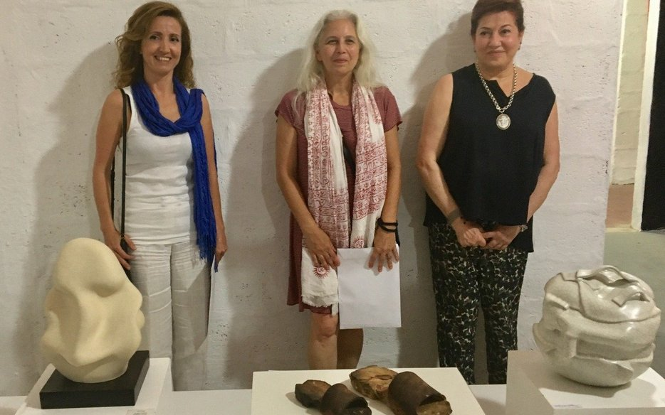The three winning submissions, Sabine Karam (2), Maha Nasrallah (1), and May Ammoun (3), from left to right_Image courtesy of MACAM Lebanon.jpg
